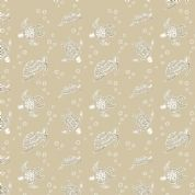 Lewis & Irene Island Girl - 5307 - Turtles on Beige - A193.1 - Cotton Fabric